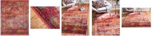 """Bridgeport Home Kenna Ken1 Red 8' 4"""" x 10' Area Rug"""