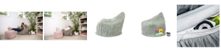 Mimish Himalaya Faux Fur Beanbag Lounger Chair with Storage