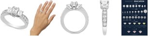Macy's Diamond Three-Stone Engagement Ring (2 ct. t.w.) in 14k White Gold