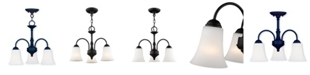 Livex Ridgedale 3-Light Convertible Dinette Chandelier/Ceiling Mount