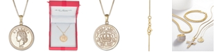 """Macy's Coin Double-Sided 18"""" Pendant Necklace in 14k Gold"""
