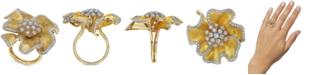 EFFY Collection EFFY® Diamond Flower Statement Ring (1-3/8 ct. t.w.) in 14k Gold