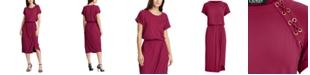 Lauren Ralph Lauren Lace-Up Jersey Dress