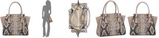Brahmin Priscilla Ballington Embossed Leather Satchel