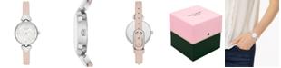 kate spade new york Women's Hollis Vellum Leather Strap Watch 30mm