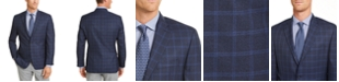 Michael Kors Men's Classic-Fit Navy/Blue Windowpane Sport Coat
