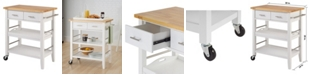 TRINITY Wood Kitchen Cart with Drawers Tray