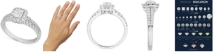 Macy's Diamond Cushion Halo Engagement Ring (1-1/5 ct. t.w.) in 14k White Gold