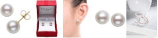 Belle de Mer Cultured Freshwater Pearl Stud Earrings (7mm) in 14k Gold