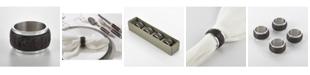Saro Lifestyle Menagerie De Fete Bark Wood Napkin Ring, Set of 4