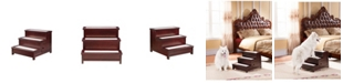 Elegant Home Fashions Max 3 Step Pet Stairs with Storage