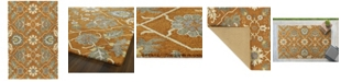 Kaleen Zocalo ZOC01-89 Orange 5' x 7' Area Rug