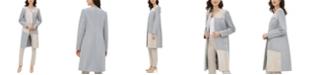 Calvin Klein Colorblocked Mixed-Media Topper Jacket