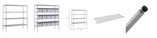 Edsal Shelf Steel Shelving Unit In Chrome Finish