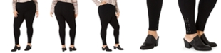 Style & Co Plus Size Lace-Up Leggings, Created for Macy's