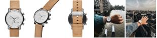 MVMT Men's Chronograph Chrono 40 Brown Leather Strap Watch 40mm