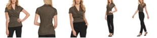 DKNY Ruched Metallic Top
