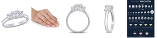 Macy's Asscher-Cut Certified Diamond (1 1/2 ct. t.w.) 3- Stone Engagement Ring in 14k White Gold