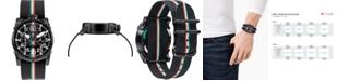 CT Scuderia Men's Swiss Chronograph Saturno Black Nylon Strap Watch 44mm