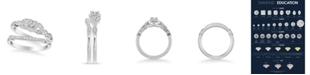 Macy's Diamond Princess Bridal Set (1/2 ct. t.w.) in 14k White, Rose or Yellow Gold