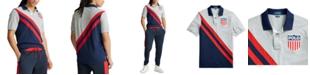 Polo Ralph Lauren Men's Big & Tall Classic Fit Logo Shield Mesh Polo Shirt