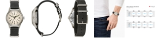 Bulova Men's Automatic Military Black Leather Strap Watch 38mm