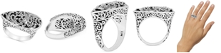 Lois Hill Filigree Teardrop Statement Ring in Sterling Silver