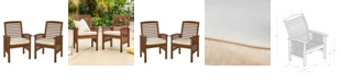 Walker Edison Acacia Patio Chairs with Cushions (Set of 2)