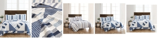 Martha Stewart Collection Reversible Printed Geometric Sails King Quilt, Created For Macy's