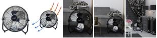 "VieAir Vie Air 12"" High Velocity All Metal Tilting 3 Speed Floor Fan"
