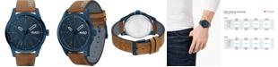 HUGO Men's #Invent Brown Leather Strap Watch 46mm