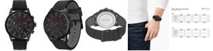 HUGO Men's #Seek Chronograph Black Leather Strap Watch 44mm