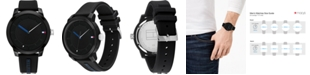Tommy Hilfiger Men's Black Silicone Strap Watch 44mm, Created for Macy's