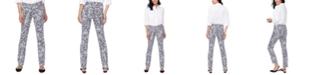 NYDJ Tummy-Control Sheri Printed Slim-Fit Jeans
