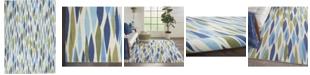 "Long Street Looms Shady Brights SHA01 Aquamarine 5'3"" x 5'3"" Square Area Rug"