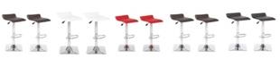 Us Pride Furniture Jeanie Adjustable Height Swivel Bar Stool