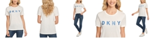 DKNY Sequin Logo-Graphic T-Shirt
