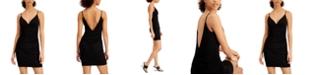 Emerald Sundae Juniors' V-Neck Ruched Bodycon Dress