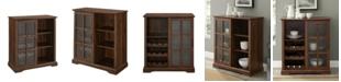 "Walker Edison 36"" Sliding Glass Door Bar Cabinet"