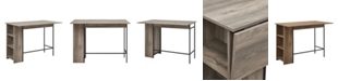 """Walker Edison 48"""" Counter Height Drop Leaf Table with Storage"""