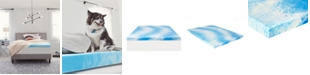 """Comfort Revolution 3"""" Gel-Infused Memory Foam Mattress Topper, Queen"""