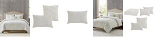 Style 212 Diamond Clipped Jacquard King Comforter Set