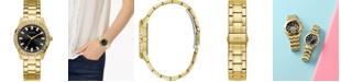 GUESS Women's Gold-Tone Stainless Steel Bracelet Watch 38mm