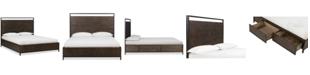 Furniture Gatlin Brown Queen Platform Storage Bed, Created for Macy's