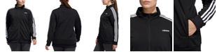 adidas Women's Plus Size Essential 3-Stripe Tricot Track Jacket