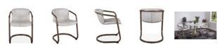 World Interiors Chiavari Leather Dining Chairs, Set of 2
