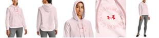 Under Armour Women's Rival Fleece Metallic Hoodie