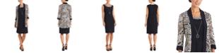 R & M Richards Plus Size Open-Front Jacket & Necklace Dress