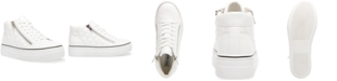 Steve Madden Women's Gryphon-Q Flatform Quilted High-Top Sneakers