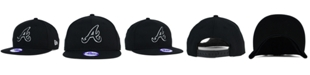 New Era Kids' Atlanta Braves Black White 9FIFTY Snapback Cap